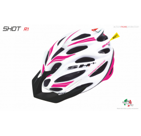 BIKE HELMET SHOT R1 WHITE MATT/PINK FLUO