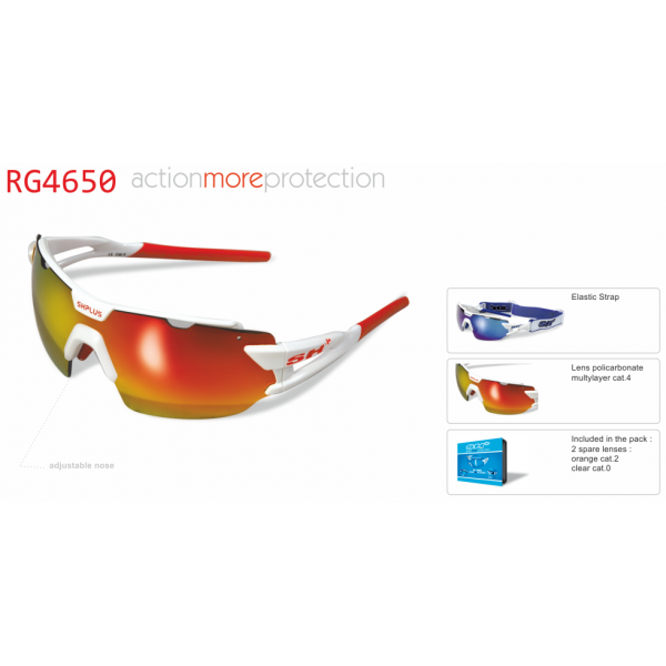 "MULTISPORT  -  GLASSES  RG 4650"" WHITE/RED"""
