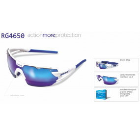 "MULTISPORT  -  GLASSES  RG 4650"" WHITE/BLUE"""
