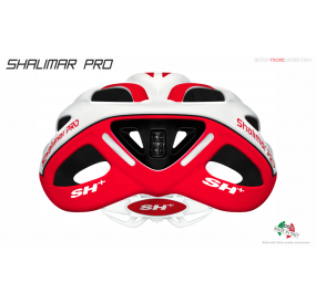 BIKE HELMET SHALIMAR PRO WHITE MATT/RED