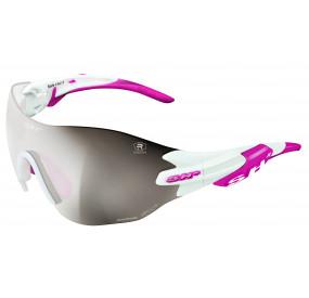 OCCHIALE SPORTIVO RG 5200 WX REACTIVE FLASH BIANCO lente fotocromatica argento cat.1-3 - pink tips