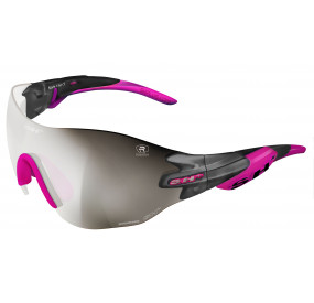 "SPORTGLASSES ""RG 5200 WX""GRAPHITE REACTIVE FLASH photocromic r.flash silver cat.1-3 - pink tips"