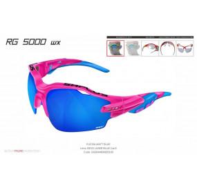 OCCHIALE SPORTIVO RG 5000 WX FUCSIA /blu lente specchiata blu cat.3