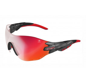 "SPORTGLASSES ""RG 5200 WX REACTIVE FLASH"" GRAPHITE/red cat. 1-3"