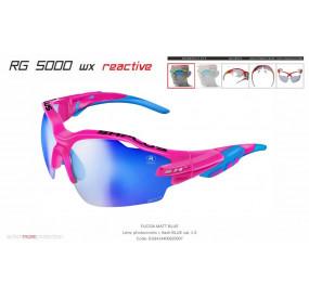 OCCHIALE SPORTIVO RG 5000 WX REACTIVE  FUCSIA lente specchiata blu cat.1-3