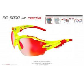 OCCHIALE SPORTIVO RG 5000 WX REACTIVE FLASH TRASPARENTE GIALLO/rosso lente fotocromatica rossa cat.1-3