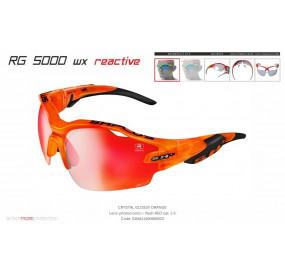 OCCHIALE SPORTIVO RG 5000 WX REACTIVE FLASH TRASPARENTE ARANCIONE/nero lente fotocromatica rossa cat.1-3