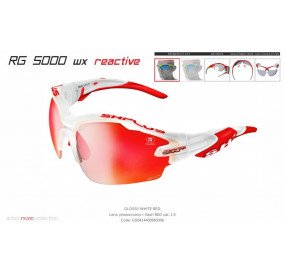 """MULTISPORT - GLASSES """"RG 5000 WX """"REACTIVE FLASH WHITE/red photocromic red cat.1-3"""
