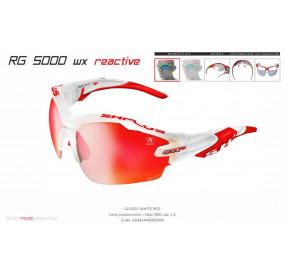 OCCHIALE SPORTIVO RG 5000 WX REACTIVE FLASH BIANCO/rosso lente fotocromatica rossa cat.1-3