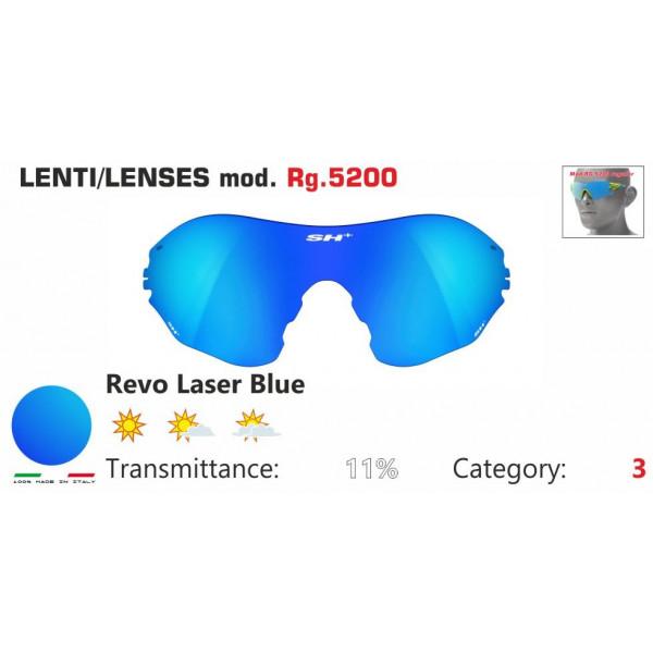 LENTE SPECCHIATA BLU RG 5200