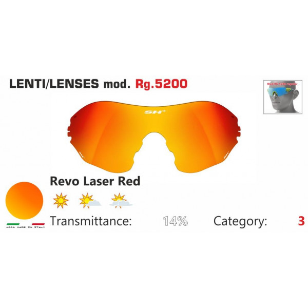 LENTE ROSSA SPECCHIATA RG 5200