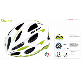 BIKE HELMET SHAKE WHITE/GREEN LIME