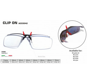 METAL CLIP-ON FOR SPORT GLASSES