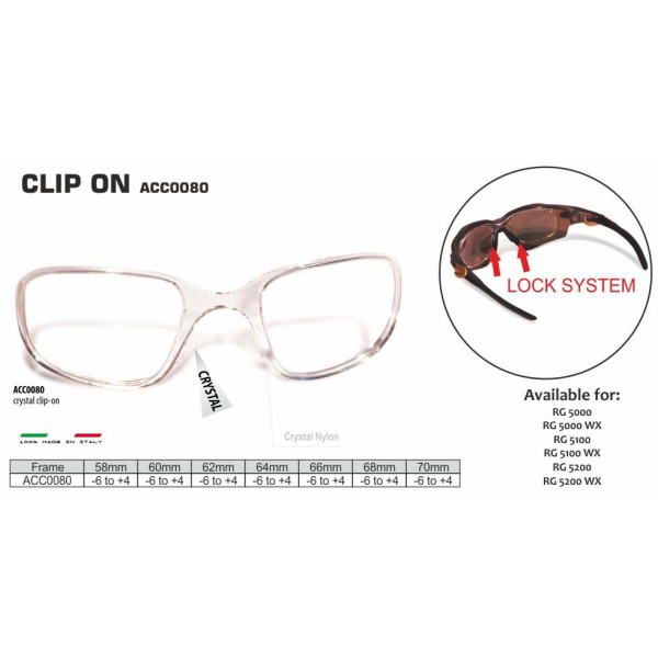 CLIP-ON FOR SPORT GLASSES RG-5000